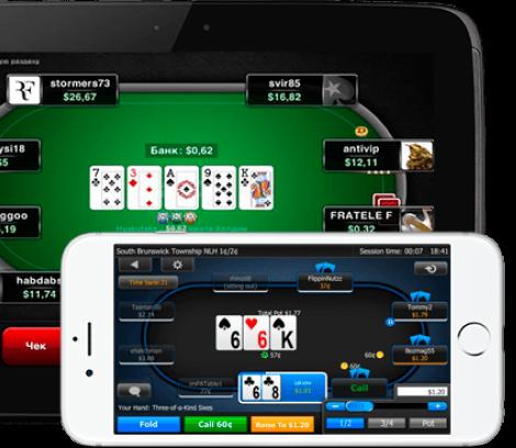 Live-Poker auf dem Handy